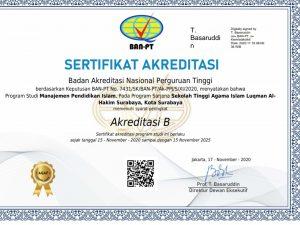 Akreditasi B MPI STAIL